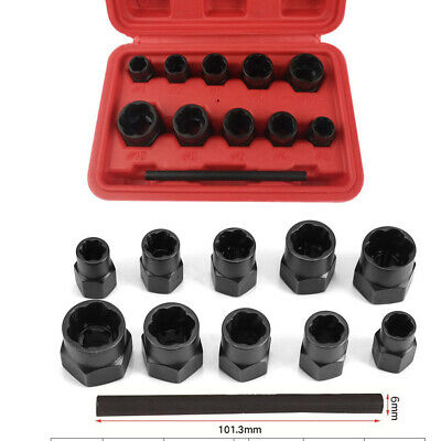 Bolt And Nut Extractor Metric Locking Wheel Nuts Safe Removal Tool Set 13PCS