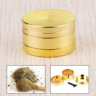 Couleur Dore 40mm Epice Broyeur a main Moulin Herbe pollen 3 couches Grinder