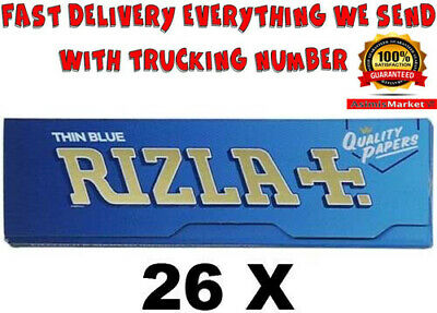 Rizla BLUE Rolling Papers 26 Booklets Standard Regular Size 1300 Papers