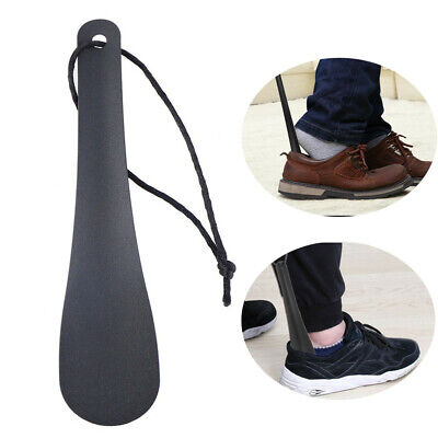 Shoe Horns Professional Black Stainless Steel Shoe Horn Spoon Shape Shoehorn