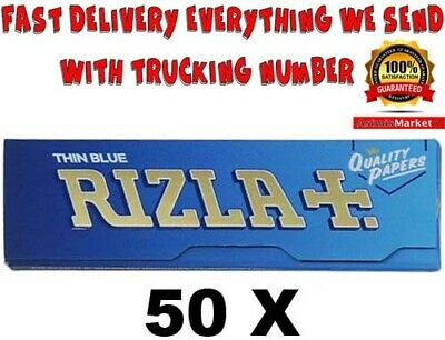 Rizla BLUE Rolling Papers 50 Booklets Standard Regular Size 2500 Papers