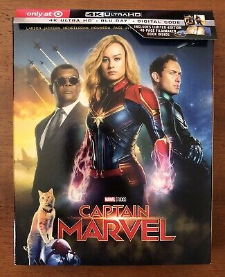 Captain Marvel (4K UHD & Blu-ray discs, 2019) Pre-order Target Exclusive NO CODE