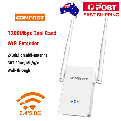 2.4/5G Dual Band WiFi Router 1200Mbps Wireless Outdoor Signal Amplifier Repeater