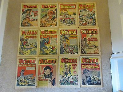 THE WIZARD COMIC 1973 x 12 - LIKE VICTOR - good condition