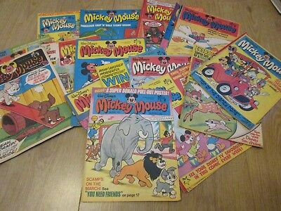 Mickey Mouse WEEKLY  comics x 28- all from 1978- Good condition