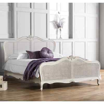Frank Hudson Chic Vanilla Cane French Bedstead