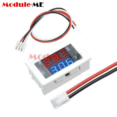 Dual Blue & Red LED Digital Display DC 100V 10A Voltmeter Ammeter Volt Amp Meter