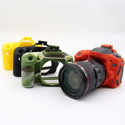 Camera Silicone Skin Case Cover For Canon 5D4 800D 6D G7X II EOS M3 77D 70D 80D