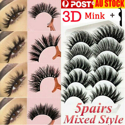 10PAIRS Natural Makeup Eye Lashes Soft Mink Long Mixed Fake False Eyelashes Set