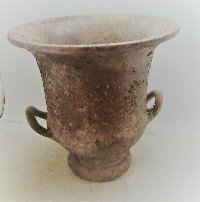 Very Rare Ancient Mycenaean Terracotta Vessel 1600-1100Bce