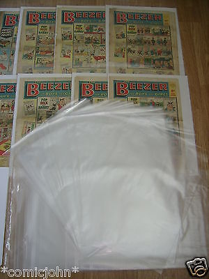 """Storage Bags For Newspapers, Beezer Comics Etc - Pack Of 100 (17 1/2"""" X 14"""")"""