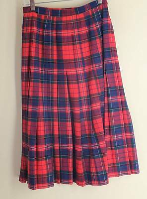 06d2cea22e PENDLETON very vintage 60s 70s Fully Pleated Pure New Wool Plaid Skirt 12  (4/