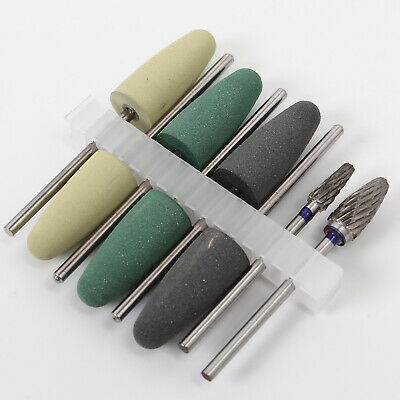 8pcs/Set Dental Resin Base Acrylic Polishing Bur Drill Polisher Tool for Dentist