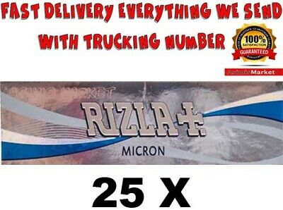 Rizla Micron Smoking Rolling Papers 25 Booklets Regular Size 1250 Roling Papers