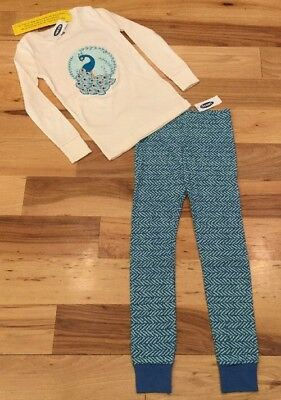 Old Navy Girls 5T Peacock Pajamas. 2-Piece Peacock Pajama Set. Nwt