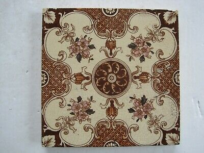 Antique Victorian Sherwin & Cotton Print And Tint Aesthetic Floral Wall Tile
