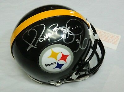 18a5cfc38b6 Jerome Bettis autographed Pittsburgh Steelers Mini Helmet signed With Proof!