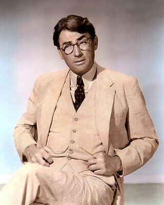 """GREGORY PECK TO KILL A MOCKINGBIRD 1962 ACTOR 8x10"""" HAND COLOR TINTED PHOTO"""