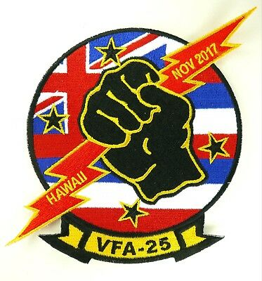 Usn Vfa-25 Fist Of The Fleet Hawaii Patch