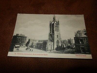 Early postcard - cathedral & Great Eastern railway building - Newcastle-on-Tyne