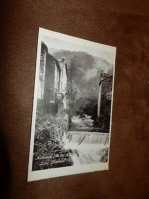 Early Lake District postcard - Old Mill - Ambleside Cumbria