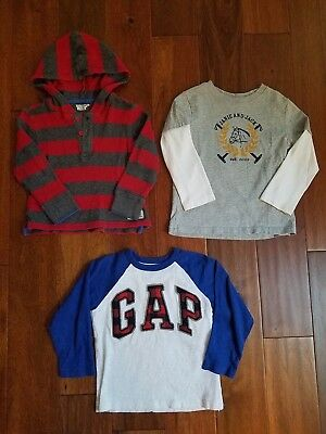 Lot Gap Janie and Jack Boy's Logo Hoodie Henley Thermal Shirts Tees Tops 3 3T