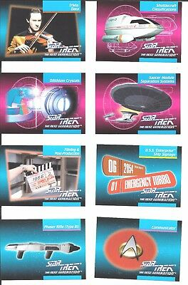 STAR TREK TNG Next Generation Inaugural Edition 26 trading cards 1992