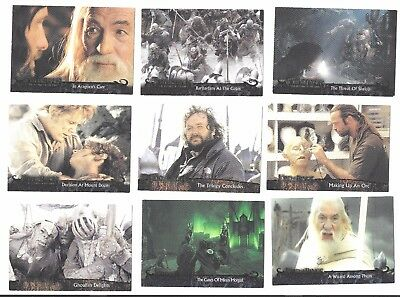 LOTR Return of the King TOPPS 2003 ~ 15 trading Cards Lord of the Rings