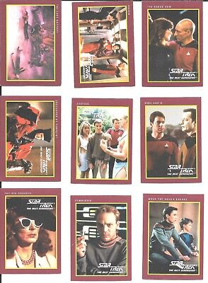 STAR TREK TNG Next Generation trading cards ~ 28 cards 1991 Impel/Paramount