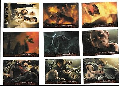 LOTR Two Towers Return of the King 2003 TOPPS 72 trading Cards Lord of the Rings