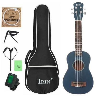 "21"" Soprano Ukulele Spruce Wood String Guitar+Bag+Turner+String Capo+Strap+Cloth"