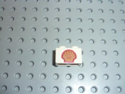 set 149 6395 690 330 688 368 LEGO vintage Brick 1 x 2 with Shell Logo 3004p60