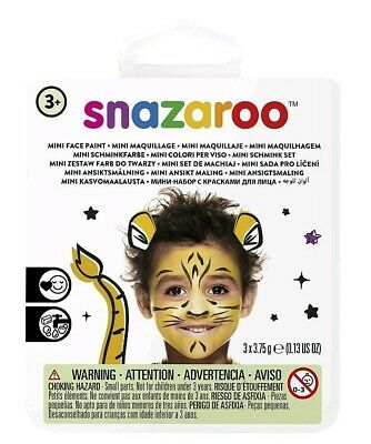 Snazaroo Mini Face Paint - Tiger Theme Pack - Fancy Dress Book Day Party Etc