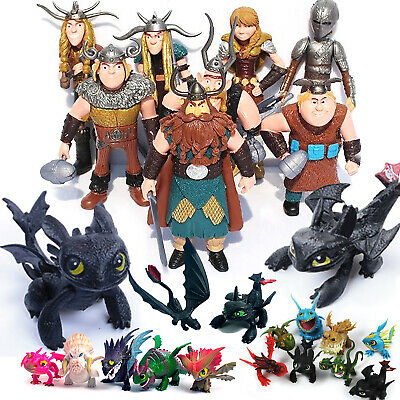 How to Train Your Dragon Toothless Night Fury Action Figures Kids Toy Collection