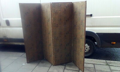 Antique Very Large Victorian C1900 Dressing Screen Room Divider