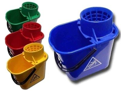 Mop Buckets - Standard or Heavy Duty - RED, BLUE, GREEN, YELLOW
