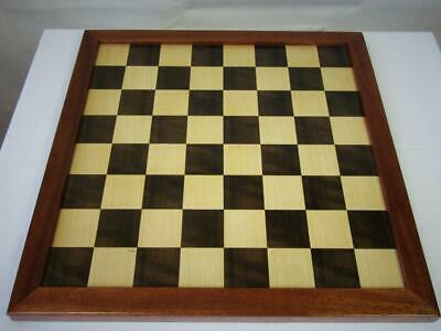 VINTAGE LARGE  CHESS  BOARD ENGLISH   16 inches SQUARES OF 45 mm