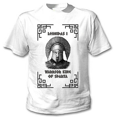 Warrior King Of Sparta Leonidas I - New Cotton White Tshirt