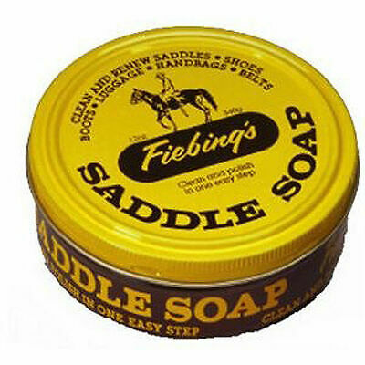 Fiebings 3.5 oz Saddle Soap Yellow Cleaner Preservative Satin Leather Boots Tack