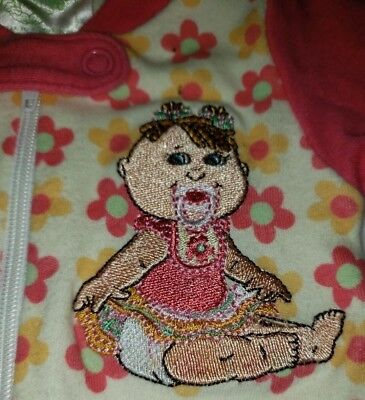 PREEMIE BABY GIRL FOOTED SLEEPER OUTFIT Cabbage Patch binky pacifier E38