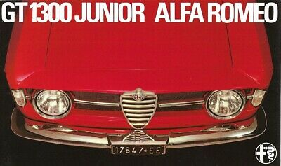 "ALFA ROMEO ""GT 1300 Junior"" - 1969 - French sales brochure, prospekte, folder"