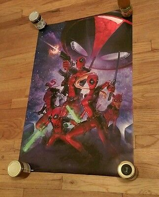 DEADPOOL Marvel Comics Family Superhero Super Hero poster Multiple Characters