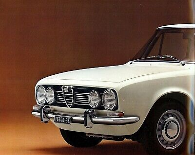 "Alfa Romeo ""1750 Berlina"" - 1969 - French sales brochure, prospekte, folder"