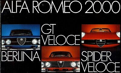 "Alfa Romeo ""2000"" - Berlina, GTV, Spider - 1973 - French sales brochure, folder"