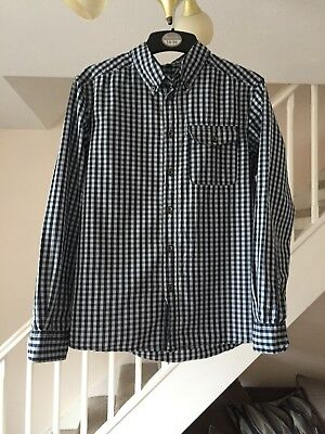 United Colours Of Benetton Boys Blue Checked Shirt Age 10-11 Years