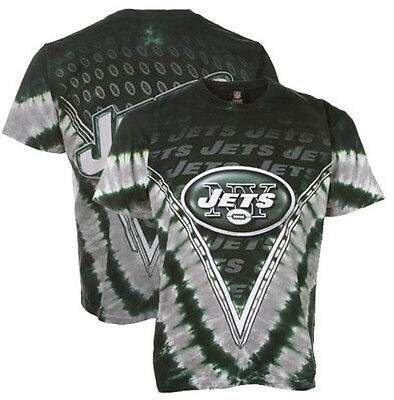 0a4720d3 NEW YORK JETS Tie Dye V Dye T-Shirt NFL NEW SHIRT WITH TAGS LICENSED ...