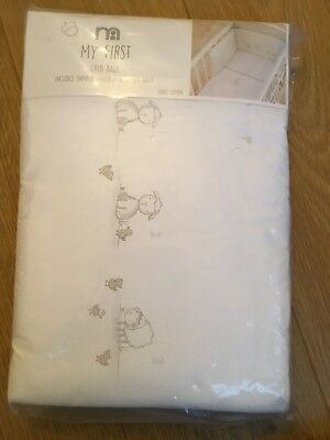 Mothercare My First Crib Bale Bumper, Coverlet And Fitted Sheet Brand New