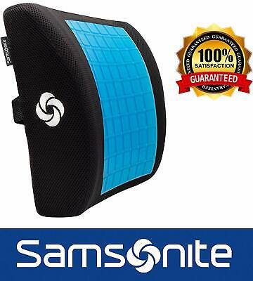 Samsonite SA6086 - Lumbar Support Pillow with Cooling Gel - Premium Memory Foam