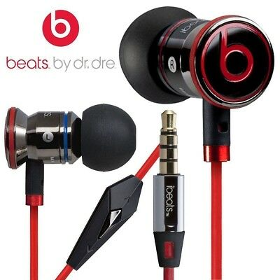 NEW Genuine Monster Beats by Dr. Dre iBeats In-Ear Headphones Earphones Black UK