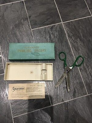 Vintage Pinking Shears Surmanco Original Box With Guarantee Made In Sheffield